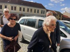Po pěti letech nás navštívila paní Eva Hőnigschmid roz. Proskowetzová