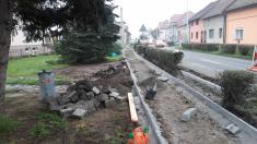 Rekonstrukce chodníků vulici Zahradní aBělovská 202024