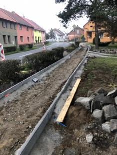 Rekonstrukce chodníků vulici Zahradní aBělovská 202031