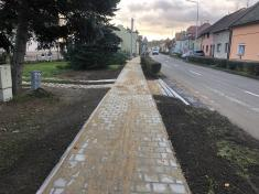 Rekonstrukce chodníků vulici Zahradní aBělovská 202032